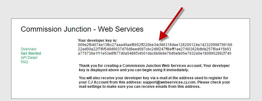 cj developer key